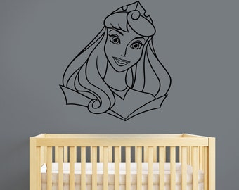 Disney Princess Wall Decal Sleeping Beauty Aurora Sticker Cartoon Vinyl Art Decorations for Home Girl's Bedroom Custom Nursery Decor pra4