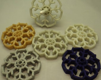 Open Snowflake Bottom Whorl Spindle 3D Printed