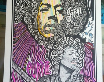 Jimi Hendrix Poster  by Posteroraphy