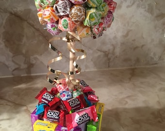 Lollipop tree with mixed candy