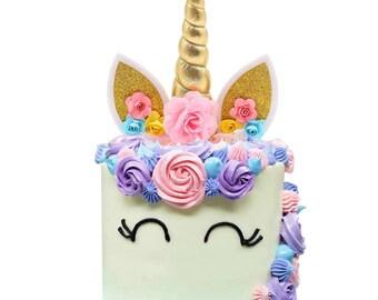 Unicorn Party, Unicorn Cake Topper, Birthday Cake, Birthday Party, Unicorn Topper, Unicorn, Girl Birthday, Unicorn Ears, baby shower