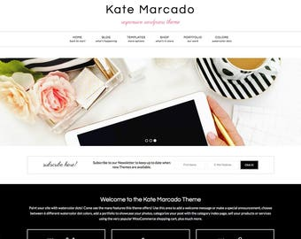 Kate Marcado Theme, WordPress Theme, WordPress Template, Responsive WordPress Theme, Blog Design, WordPress Blog Theme, WordPress Blog