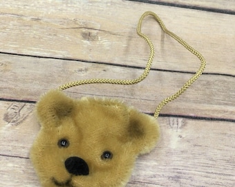Vintage Merrythought Mohair Teddy Bear Mini Teddy Bear Purse Coin England