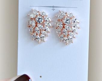 Tanzanite stud earrings bridal jewelry bridal earrings 8th