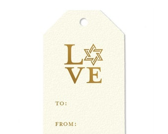 Holiday gift tags {set of 10} gold foil gift tags | xoxo | love | cheers | happy holidays