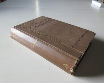 A ROMAN SINGER Book by F. Marion Crawford