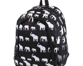 Elephant Monogram Backpack, Personalized Backpack, Monogram Bookbag, Boys Backpack, Pink Backpack, Kids Backpack, School Backpack