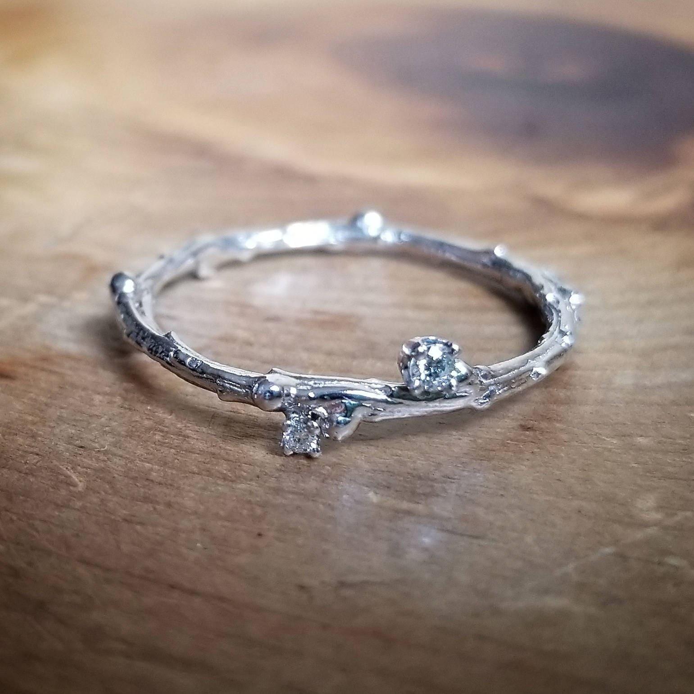 Women's diamond wedding bands white gold -  Zoom