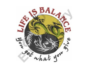 Balance Yin Yang - Machine Embroidery Design