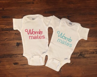 Twins womb mates onesie set