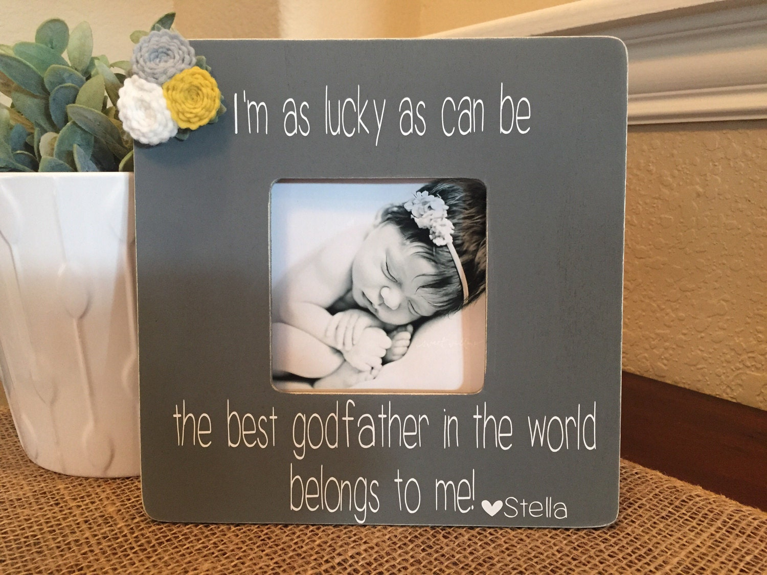 Godfather gift godfather picture frame gift personalized for zoom jeuxipadfo Image collections