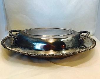 Vintage Oval Silverplate Tray
