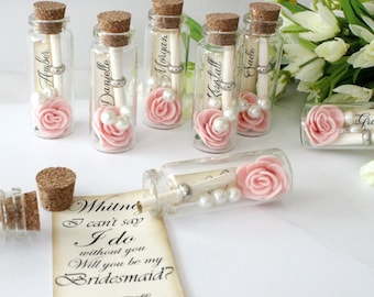 Will You Be My Bridesmaid - I can't say I do without you, will you be my Bridesmaid? Message in a bottle