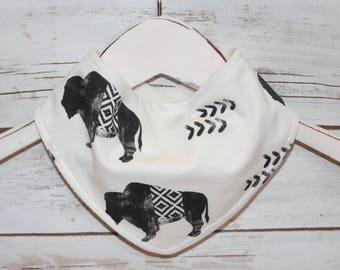 Bandana Bib~Southwestern Buffalo~ Reversible~ Baby Gift