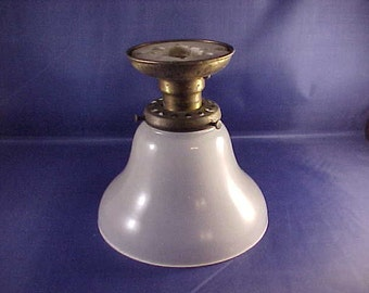 Ceiling Mount Light Fixture Single Bulb Frosted Glass Open Shade