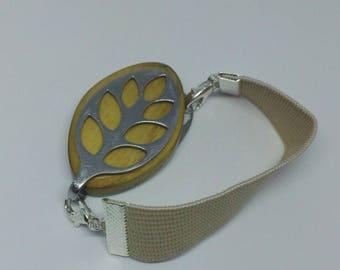 Bellabeat leaf bracelet beige elastic strap bracelet to use with Bellabeat leaf, bellabeat anklet