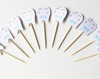 cupcakes (cupcake toppers) - small teeth - Agra Hadig 10 toppers