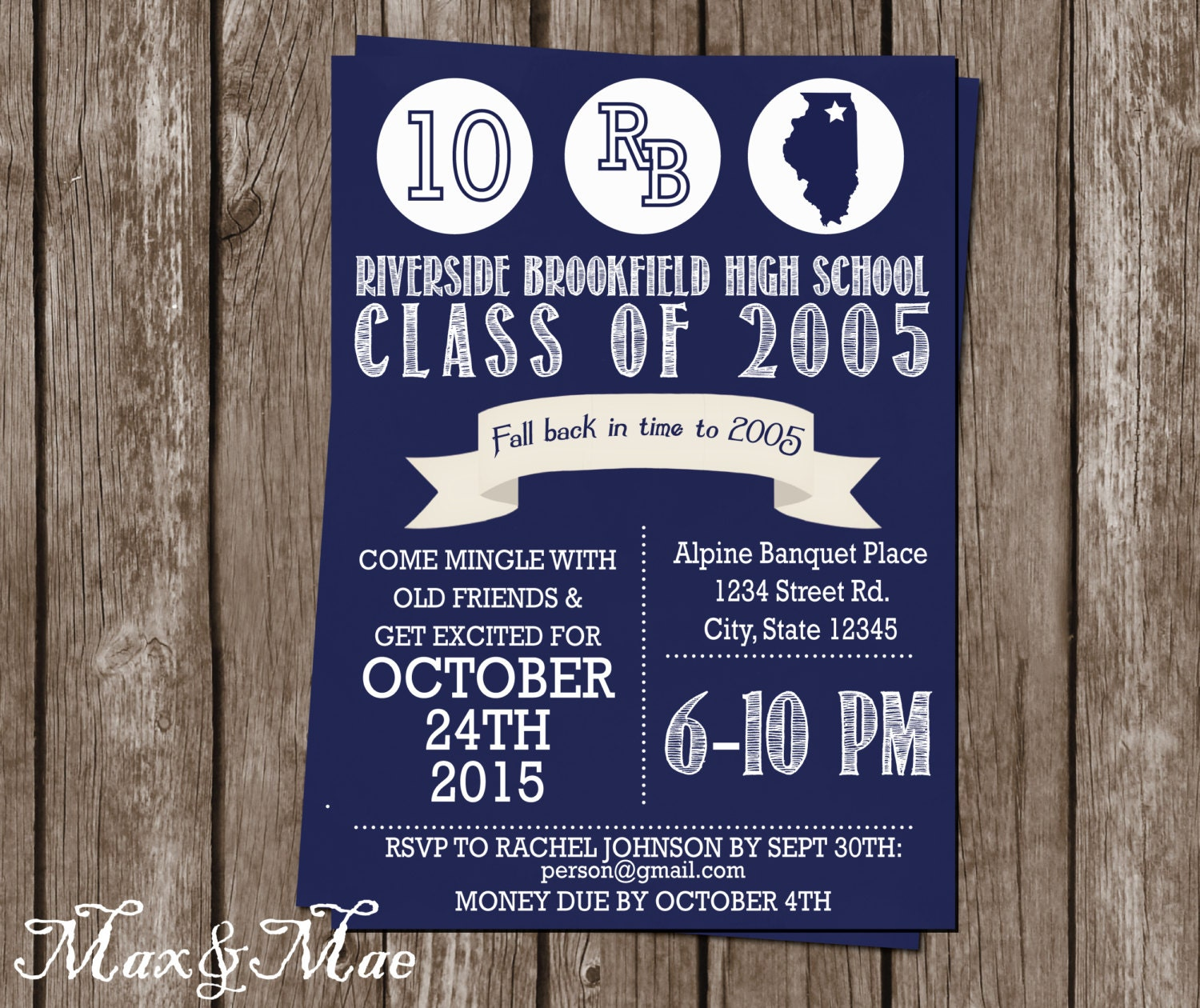 🔎zoom  Class Reunion Invitation Template