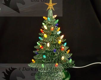 Vintage Ceramic Christmas Tree 11 Inches