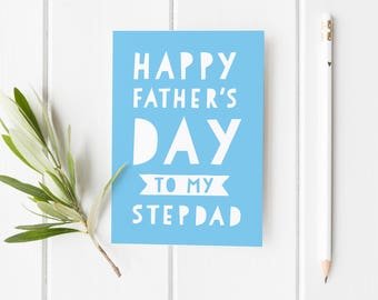 Father's Day Card, Stepdad Father's Day Card, Stepdad Card For Best Dad, Fathers Day Card, Card Stepdad, Bonus Dad Card, Thank You Step Dad