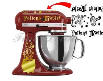 Potions Master Decal Set Vinyl Decal Kitchen Mixer Wizard Cauldron