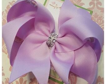 Girl hair clips, girl barrettes, bows for girls, lavendar hair bow, hair clips for girls