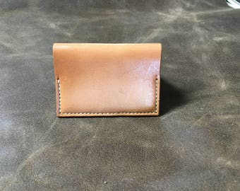 Handmade leather card case