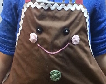 Ginger Bread Apron, Holiday Apron