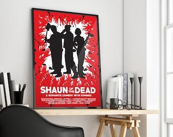 Shaun of the Dead | Edgar Wright | Simon Pegg | Film Poster Print Design | A0 A1 A2 A3 A4