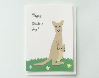 Happy Mother's Day Kangaroo collage card