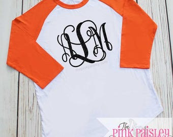 Girls Halloween Monogram Shirt | Kids Halloween Raglan Shirt | Spider Web | Monogrammed Raglan
