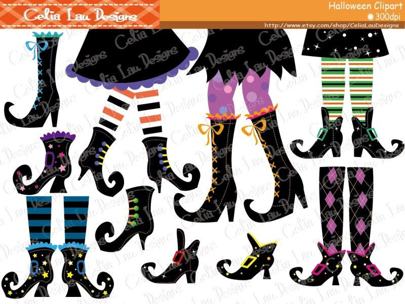 Witch Feet Clip art Halloween Clipart Witch Boots Clipart
