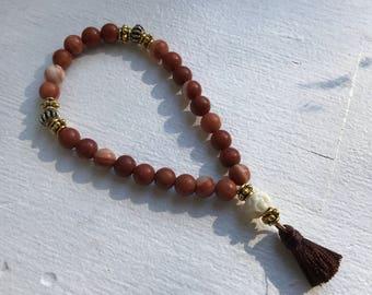Red Malachite Mala Bracelet