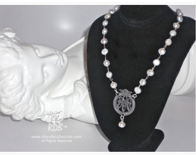 Crowned Ave Maria Necklace