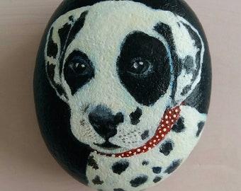 Little Dalmation painted pebble