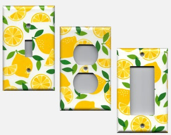 kitchen light switch covers kitchen. Bright Yellow Lemons, Lemon Slices Kitchen Decor Light Switch Covers And Wall Outlet Covers; L
