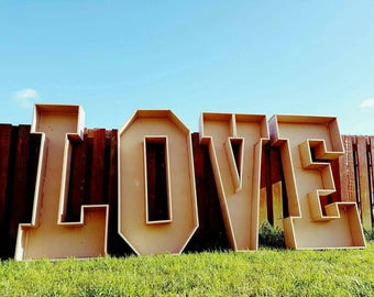 Giant 4ft LOVE letters MDF wedding party