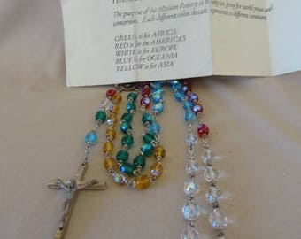"Vintage Aura Boras Crystal ""THE MISSION ROSARY""  For World Peace in Original Pouch"