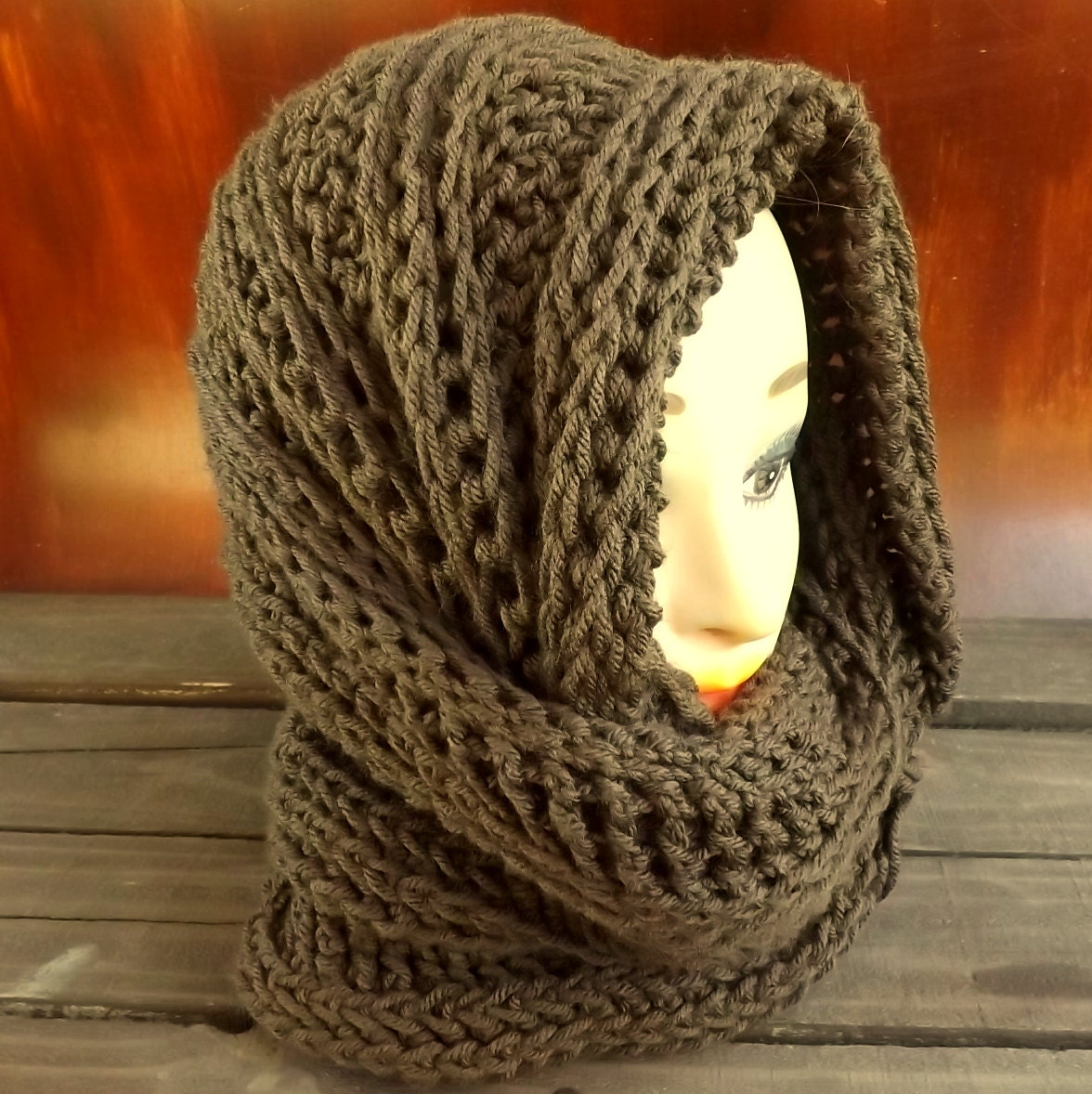 Joan Hooded Cowl Pattern Mobius Cowl Scarf Crochet Pattern