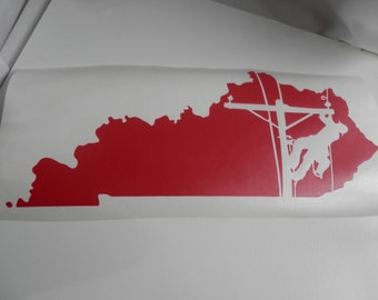 KENTUCKY  Lineman DECAL 18 Inches Wide
