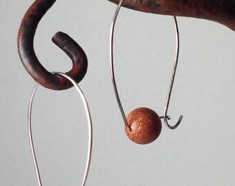 Sterling Goldstone Hoop Earrings