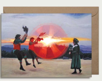 Greeting card - Dance Up The Sun (Brandragon)