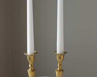 """Pair of 6"""" Vintage Brass Candlestick Holders"""