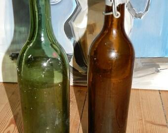 old bottles 1950s. 2 old french BOTTLES.