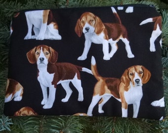 Beagle zippered bag, make up bag, accessory bag, The Scooter