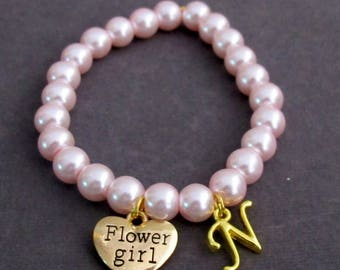 Personalized Gold Flower Girl Bracelet,Flower Girl Gift,Flower Girl Jewelry,Wedding Jewlry, Girls Jewelry ,Child Bracelet, Free Shipping USA