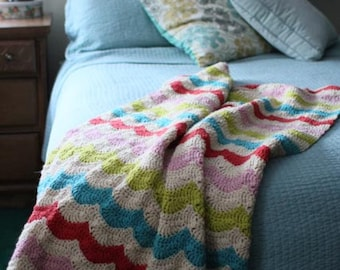 Crochet Blanket Pattern - Happy Throw