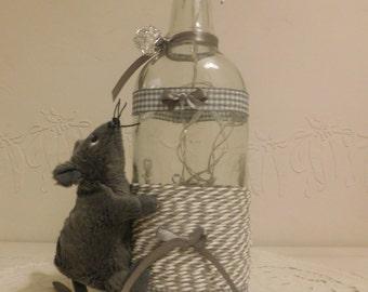 Mouse grey bottle lamp