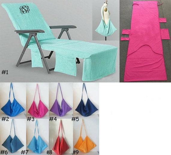 Great Monogrammed Beach Chair Cover Beach Pool Lounge Chair