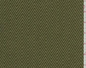 Olive Green Herringbone Knit, Fabric By The Yard